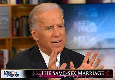 Joe Biden en het homohuwelijk